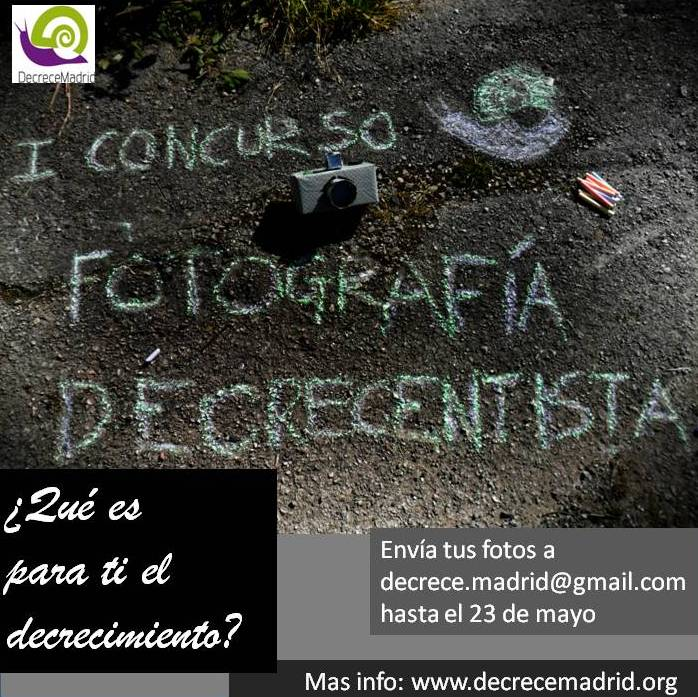 cartel concurso fotografia decrecentista