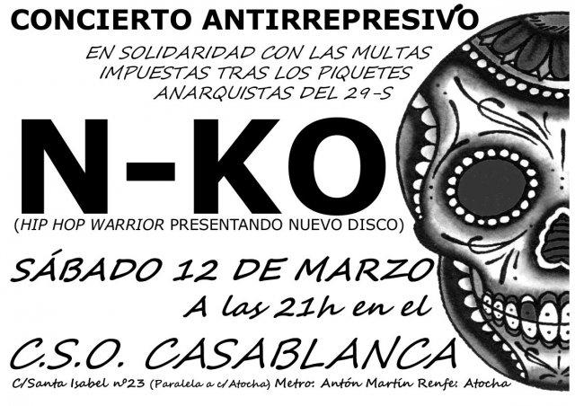 Concierto anitrrepresivo N-KO y DJ Orbe 12/3/2011 de CSOA Casablanca