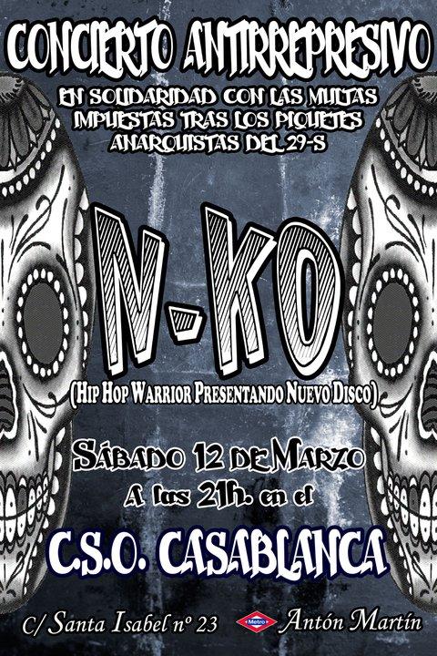 Concierto N-KO CSO Casablanca (Madrid) 12/03/2011
