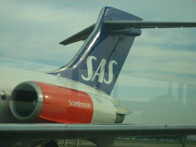 Avión de la SAS despegando