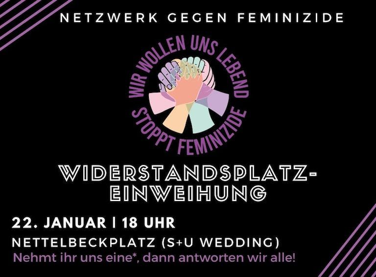 Inauguración  Wiederstandsplatz